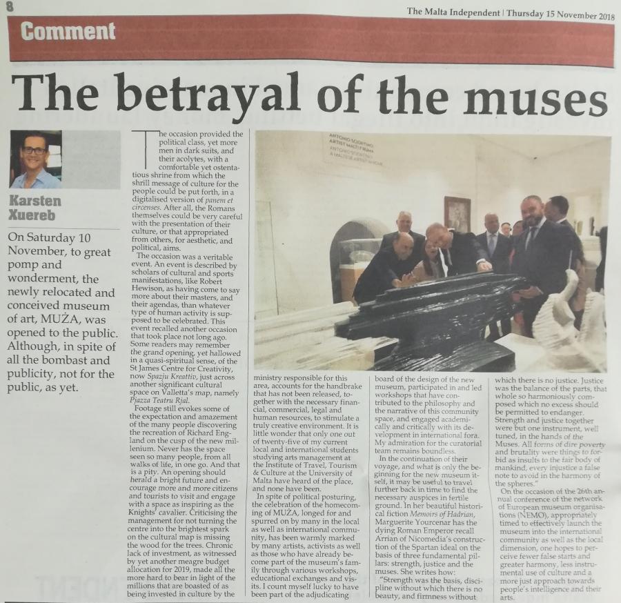 Politics & culture: the new museum of art inMalta