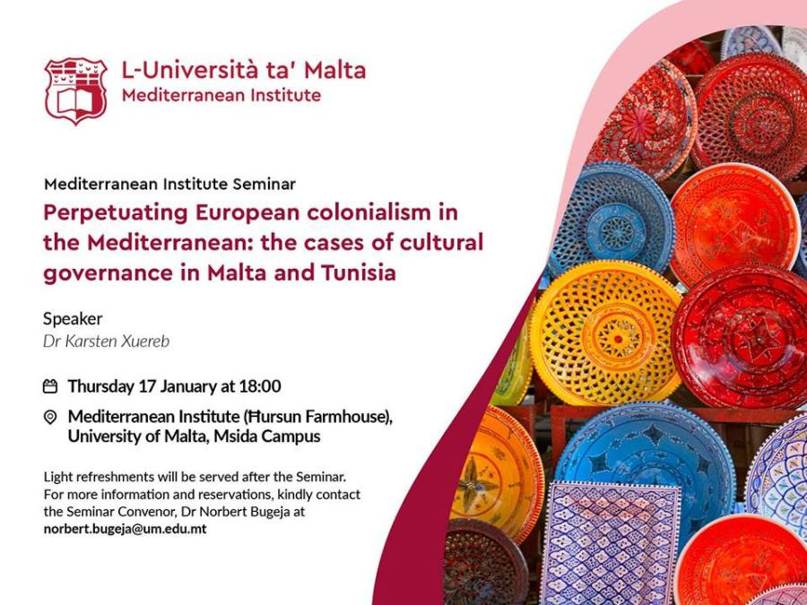 Colonialism in cultural governance: Europe & the Mediterranean