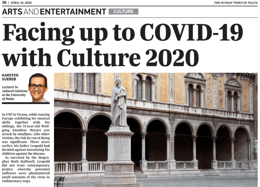 COVID-19 challenges to culture in Europe & theMediterranean
